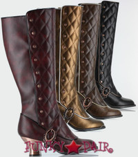 Victoriana, 2.5 Inch Knee High High Boots
