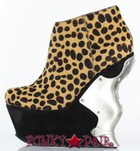 Pantera, 6 Inch High Heel Leopard Print Wedge