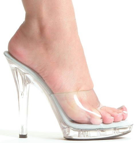 M-Vanity, 5 Inch High Heel with 1/2 Inch Clear Platform Shoes ...