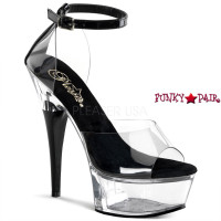 Captiva-673, 6 Inch High Heel with 1.75 Inch Platform Close Back Sandal with Ankle Strap