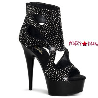 Delight-600-25, 6 inch high heel with 1.75 inch platform Cut Out Bootie Sandal