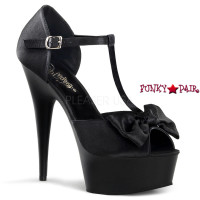 Delight-610, 6 Inch High Heel with 1.75 Inch Platform T-Strap D'Orsay Peep Sandal