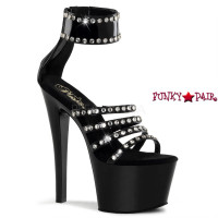 Sky-370, 7 Inch Strappy Capped Rhinestones Sandal