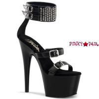 Adore-764, Triple Buckle Strap with Wide Ankle Cuff Sandal