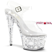 Adore-708MR, 7 Inch Shoes with Multi Size Rhinestones