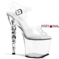 Dice-708, 7 inch high heel wtih 3.25 inch platform Dice Heel Ankle Strap Sandal
