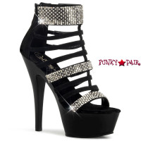Kiss-294, 6 Inch Strappy Cage Sandal