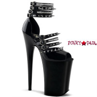 Infinity-935, Multi-Straps with Spikes and Studs Platform Sandal