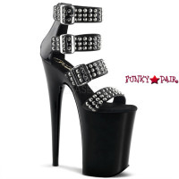 Infinity-989ST, 9 Inch Stiletto with 4 Spikes Straps and Close Back Sandal