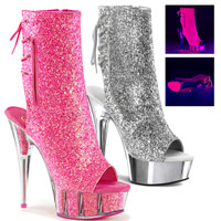 Delight-1018G, 6 inch stiletto heel with 1.75 inch platform * Made by PLEASER Shoes