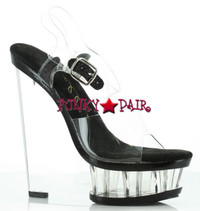 610-Brook, 6 inch High Heel with 1.75 inch Platform wedge with ankle strap Made by ELLIE Shoes