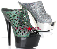 609-Kamila, 6 Inch High Heel with 1.75 Inch Platform Slide Made by ELLIE Shoes