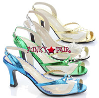 BP304-Barnett, 3 Inch Slingback Sandal Made By Bettie Page Shoes