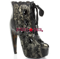BP575-Lula, 5.5 inch high heel with 1.75 Inch Platform lace ankle boots