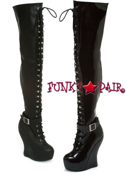 bp588 ophelia 5 5 inch wedge thigh high boots