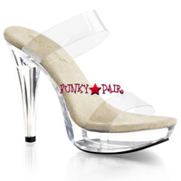 Cocktail-502, 5 Inch Heel Double Band Platform Slide
