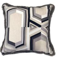 Geometric Faux Fur Pillow