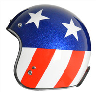 Origine Jet 3/4 DOT Open Face Motorcycle Helmet in Captain design with Easy Rider American Flag - Side