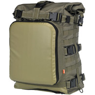 Biltwell EXFIL-80 Moto Backpack Rucksack Motorcycle Storage Bag in OD Green - Rear Overview