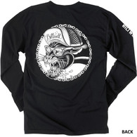Biltwell Panther Long-Sleeve T-Shirt in Black - Back