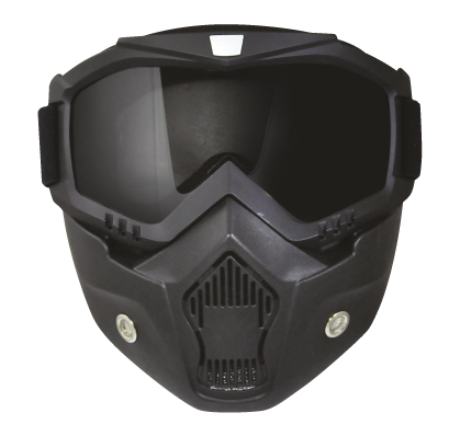 Torc Riding Mask for 1/2 or 3/4 Helmets - Front View