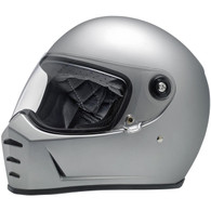 Biltwell Lane Splitter Full Face Helmet in Flat Silver - Overview