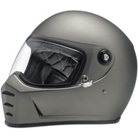 Biltwell Lane Splitter Full Face Helmet in Flat Titanium - Overview