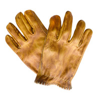 Motostuka Shanks Leather Gloves in Bronze - Top