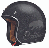 "Torc DOT 3/4 Helmet ""Grizzly"" in Black Flake - Overview"