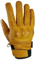 Torc Fairfax Armored Leather Gloves in Gold - Top