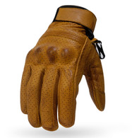 Torc Fairfax Armored Leather Gloves in Gold