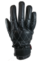Torc Silver Lake Motorcycle Gloves in Black Leather - Top