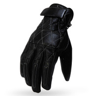 Torc Silver Lake Motorcycle Gloves in Black Leather