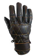 Torc Silver Lake Motorcycle Gloves in Brown Leather - Top