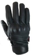 Torc Fairfax Armored Leather Gloves in Black - Top