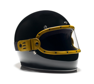 Equilibrialist Knox Maska Visor for Biltwell Gringo Helmets - Yellow Trim with Clear Lens