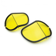 Halcyon Laminated Glass Replacement Split Lens in Amber for Mark Series Aviator Goggles