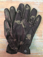Grifter Merc's Midnight Leather and Camo Motorcycle Riding Gloves - Overview