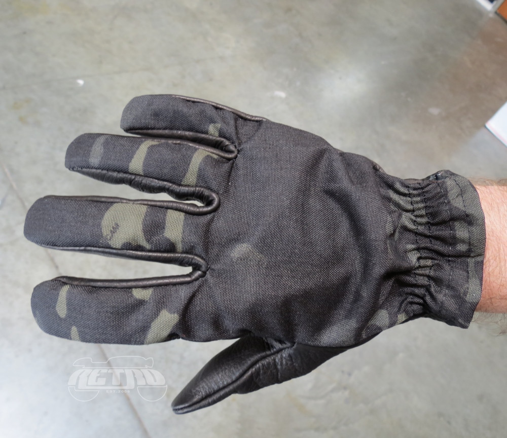 Grifter MERC's Midnight Leather/Cordura Moto Glove - Top