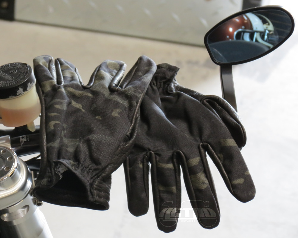 Grifter MERC's Midnight Leather/Cordura Moto Gloves - Pair