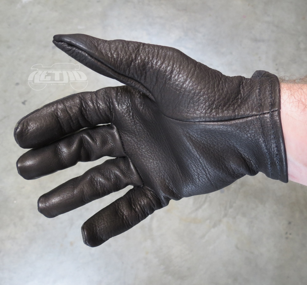 Grifter MERC's Midnight Cordura/Leather Moto Glove - Palm