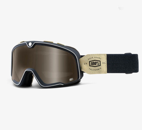 100% Barstow Motorcycle Goggles in Raw - Side View