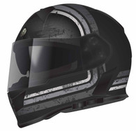 Torc T-14 DOT-Approved Full Face Motorcycle Helmet with Stream-Line Graphics in Grey