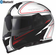 Torc T-14 Full Face Helmet with Blinc Bluetooth with Stryker Graphics in White - Overview