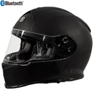 Torc T-14 Full Face Helmet with Blinc Bluetooth in Flat Black - Overview