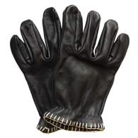 Motostuka Shanks Leather Gloves in Coal - Top