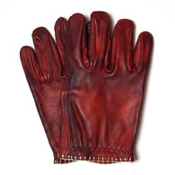 Motostuka Shanks Leather Gloves in Bloody - Top