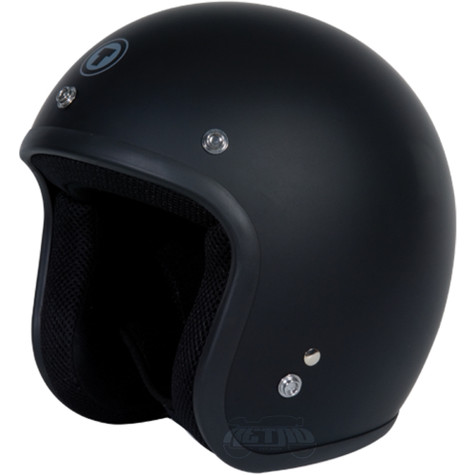 Torc T50 Classic DOT-Approved Open-Face 3/4 Motorcycle Helmet in Flat Black - Overview