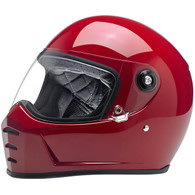 Biltwell Lane Splitter Moto Helmet in Blood Red - Overview