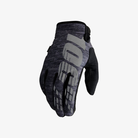 100% Brisker cold-weather riding glove in Heather - Top